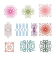 The collection of colorful design elements pattern vector image vector image