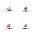 trade logo template business logo concept vector image vector image