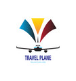 travel plane logo vector image