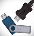 USB digital design vector image