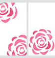 Vertical banners with watercolor roses vector image vector image