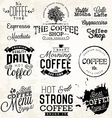 Vintage Coffee Labels and Typographic Elements vector image vector image