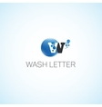 Wash letter vector image vector image
