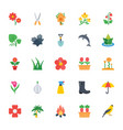 nature and ecology flat colored icons 4 vector image