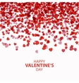 Happy Valentines day card hearts vector image