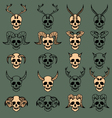 10 Evil Skull Collection vector image vector image