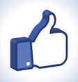3d Thumb Up icon vector image vector image