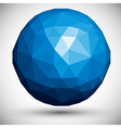 Abstract faceted sphere vector image