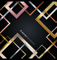 abstract geometric square border pattern golden vector image
