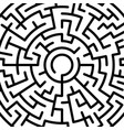 abstract round maze pattern vector image vector image