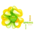 Abstract spring background Template brochure vector image vector image