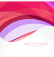 abstract wave background design template vector image vector image