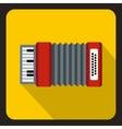 Accordion icon flat style vector image vector image