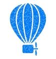 Aerostat Balloon Grainy Texture Icon vector image