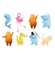 baanimals collection for kids nursery design vector image vector image