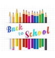 Back to school background with Coloring pencils vector image vector image
