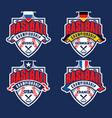 baseball championship badge logotypes vector image vector image