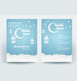 beautiful ramadan kareem flyer brochure poster vector image vector image