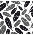 black and gray feathers seamless pattern eps10 vector image vector image