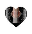 black plectrum for guitar heart vector image vector image
