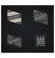 Bundle of four retro emblems for Barber Shop vector image