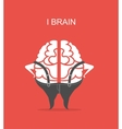 business concept of brain vector image vector image