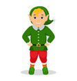 cartoon cute christmas elf vector image