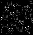 cats seamless background vector image