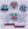 chemical industry flat concept icon vector image vector image