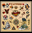 classic tattoos vector image vector image