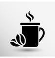 Coffee cup logo design template Cafe shop emblem vector image vector image