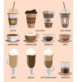 Coffee icons set Buttons for web and apps vector image vector image