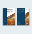 corporate business annual report cover brochure vector image vector image