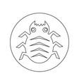 cyber bug icon design vector image vector image