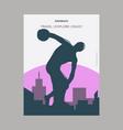 discobolus munich vintage style landmark poster vector image