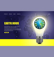 earth hour website landing page design vector image vector image
