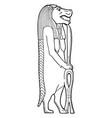 egyptian hippopotamus goddess vintage vector image