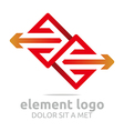 element red arrow orange design symbol icon vector image