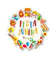 festa junina village festival in latin america vector image vector image