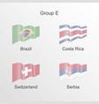 flag group e world football championship vector image