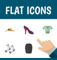 flat icon clothes set of elegant headgear heeled vector image vector image