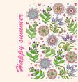 folk gentle floral background vector image vector image