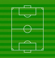 football field top view vector image vector image