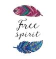 Free spirit card with ethnic decorative