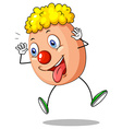Funny egg character on white background vector image vector image