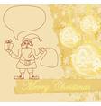 Funny Santa Claus - Abstract Christmas card vector image