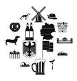 germany black simple icons vector image vector image