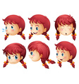 Girl expressions vector image vector image