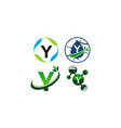 green project solution a template set vector image