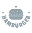 hamburger logo simple gray style vector image
